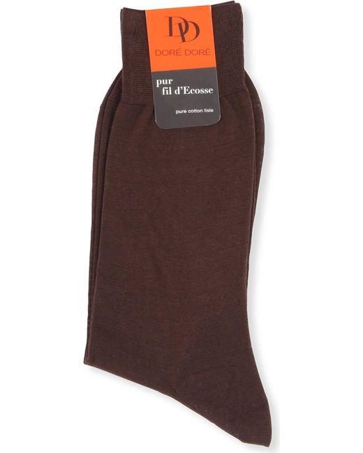 Doré Doré | Brown Knitted Cotton Socks for Men | Lyst