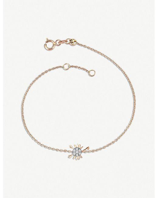 The Alkemistry - Metallic Kismet By Milka 14ct Rose-gold And Diamond Scorpio Bracelet - Lyst