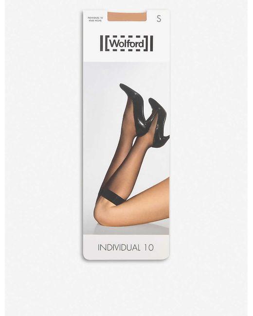 Wolford Black Women's Gobi Individual 10 Knee-highs