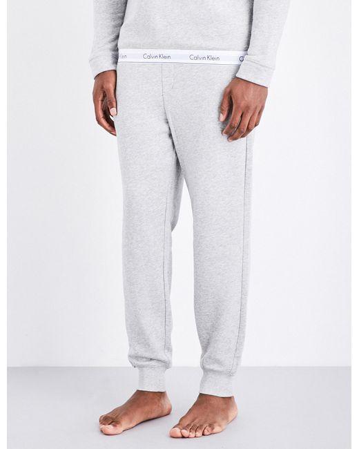 Calvin Klein | Gray Mens Modern Cotton-blend Jogging Bottoms for Men | Lyst
