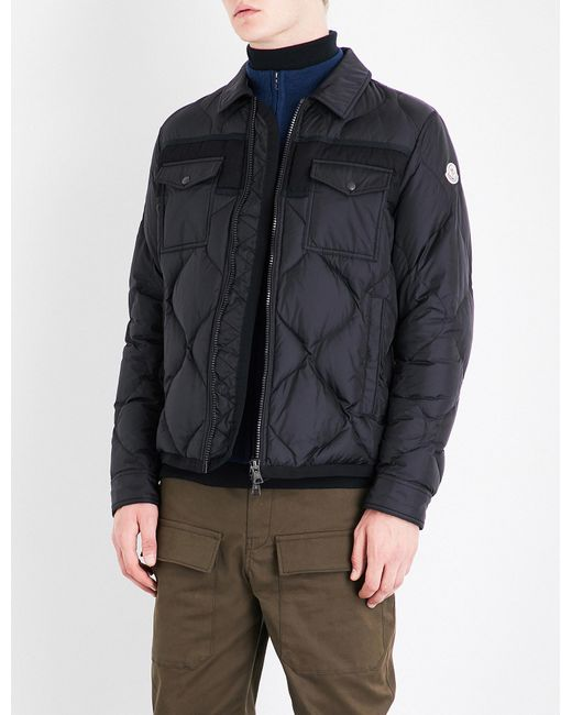 Moncler | Black Stephan Quilted Shell Jacket for Men | Lyst