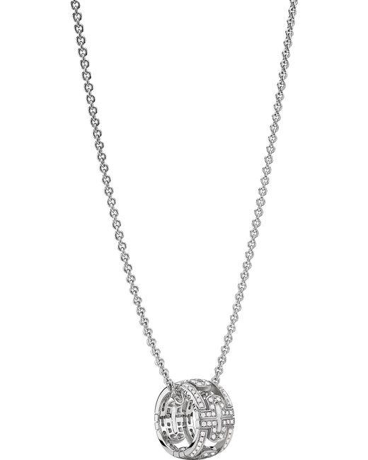 BVLGARI - Metallic Parentesi 18ct White-gold Round Necklace - Lyst