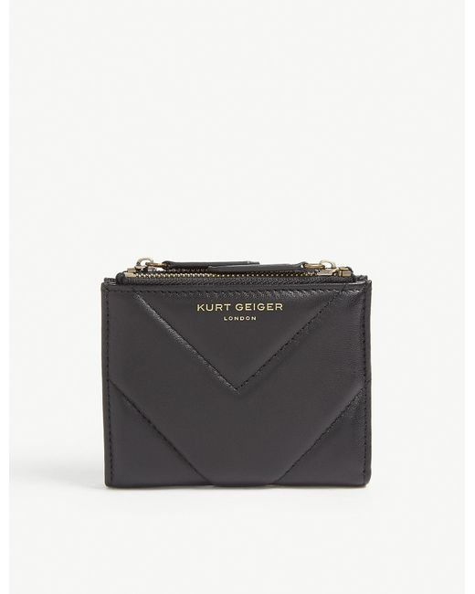 Kurt Geiger Black Quilted Leather Mini Purse