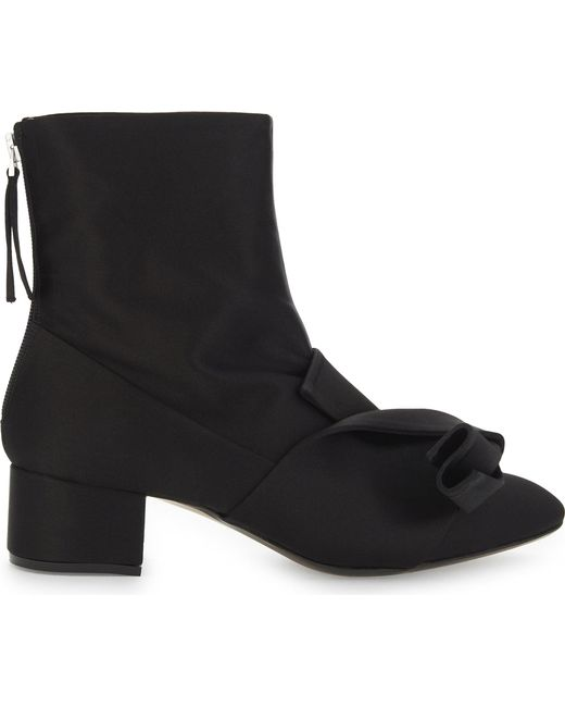 N°21 | Black Bow Satin Ankle Boots | Lyst