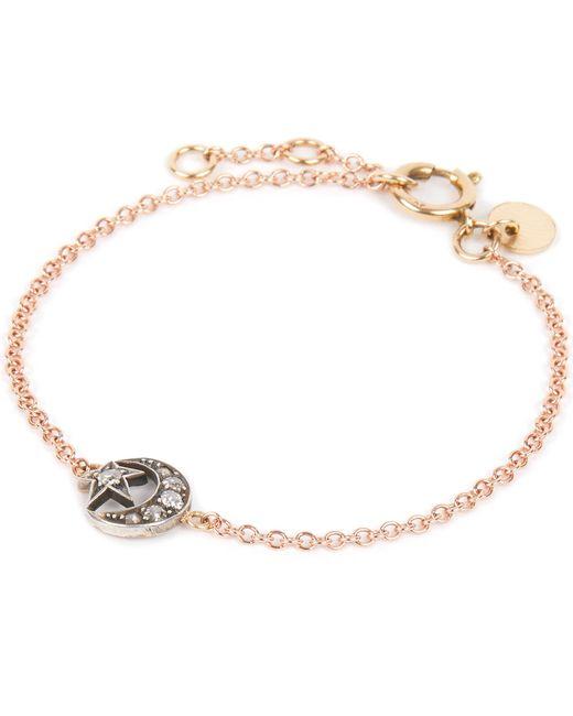 Annina Vogel | Metallic 9ct Gold And Diamond Star And Crescent Bracelet | Lyst