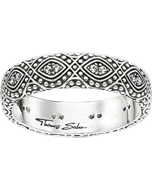 Thomas Sabo - Metallic Dreamcacther Sterling Silver Ring - Lyst