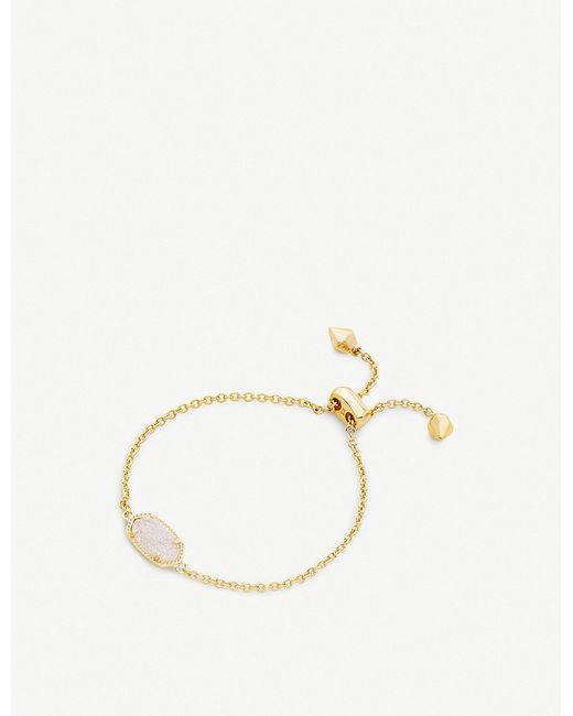 Kendra Scott - Metallic Elaina Gold-plated And Iridescent Drusy Chain Necklace - Lyst