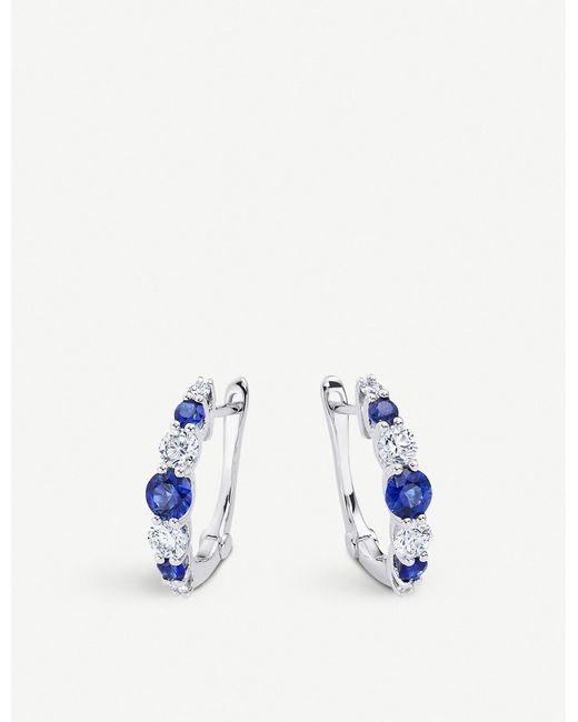 BUCHERER JEWELLERY Metallic Classics 18ct White-gold Diamond Hoop Earrings