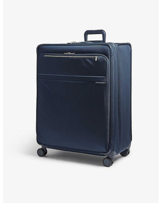 Briggs & Riley Blue Baseline Xl Expandable Suitcase