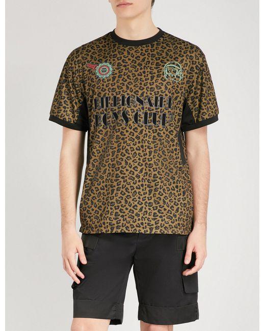 BBCICECREAM - Multicolor Leopard-print Sports-jersey T-shirt for Men - Lyst