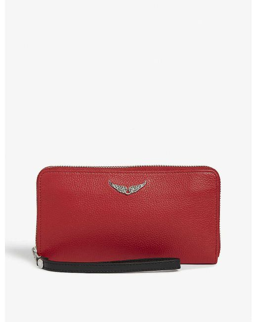 Zadig & Voltaire Red Compagnon Wallet