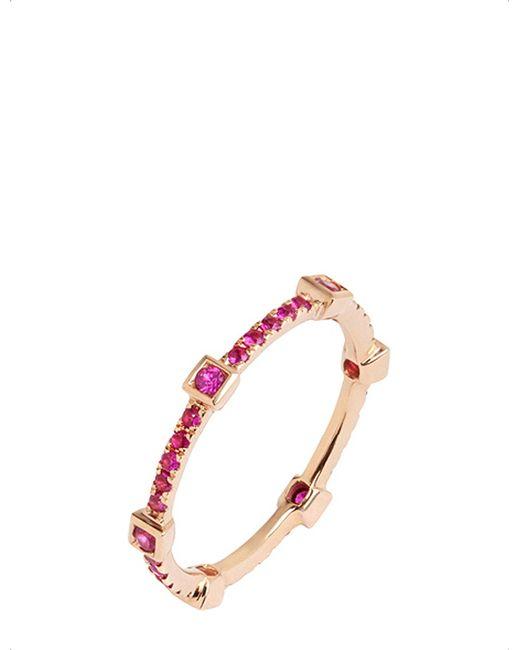 Annoushka - Pavilion Pink Sapphire 18ct Rose Gold Eternity Ring - Lyst