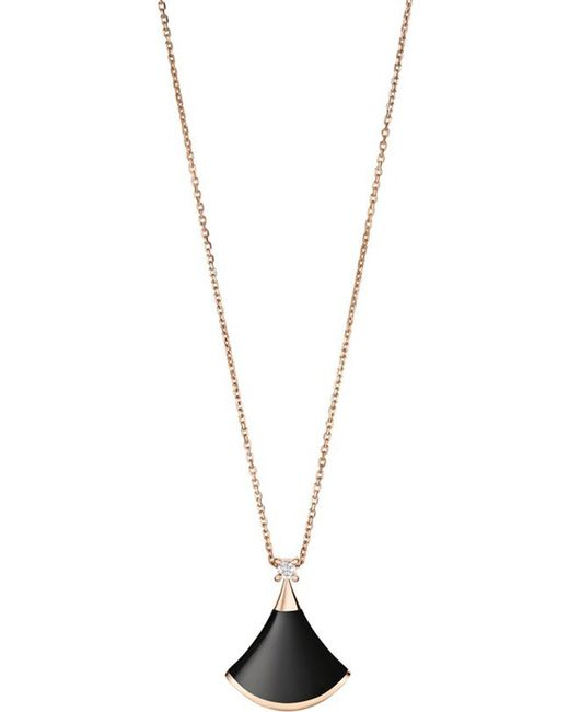 BVLGARI - Metallic Divas' Dream 18kt Pink-gold And Onyx Necklace - Lyst
