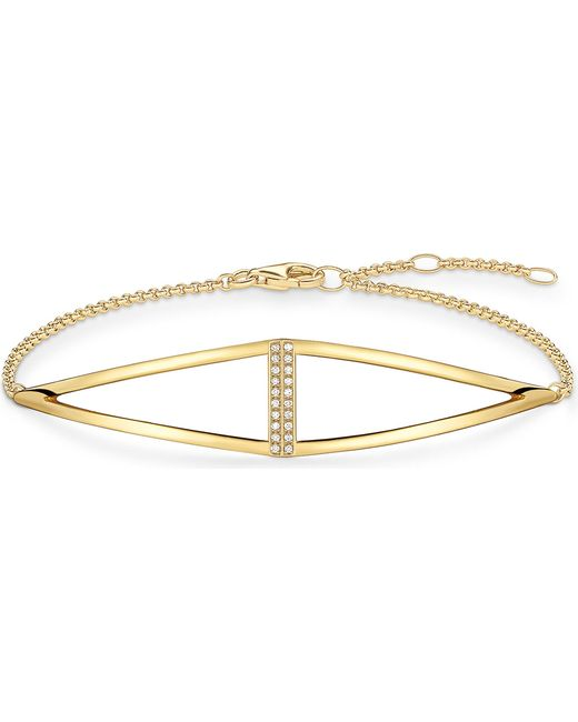 Thomas Sabo - Triangle Yellow Gold-plated And Diamond Bracelet - Lyst