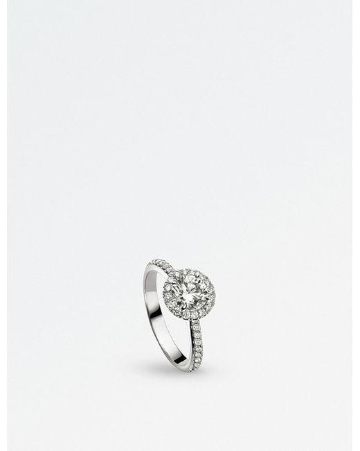 BUCHERER JEWELLERY - Metallic Solitaire 18k White Gold And Diamond Ring - Lyst