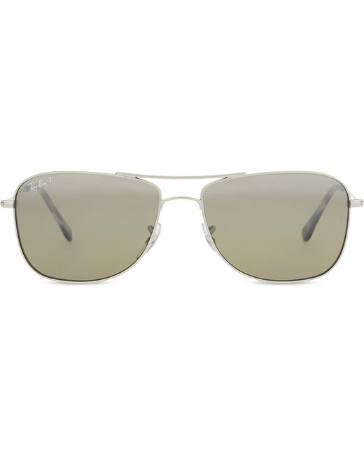 606f0f02022 Lyst - Ray-Ban Rb3543 Chromance Aviator Sunglasses in Metallic for Men
