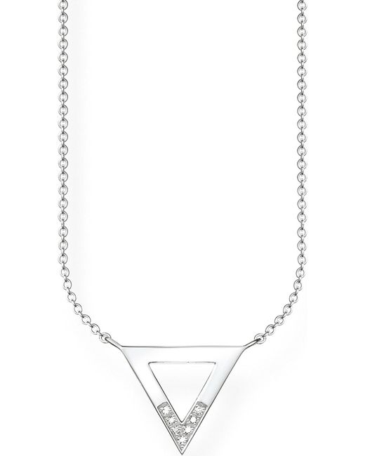 Thomas Sabo   Metallic Triangle Sterling Silver And Diamond Necklace   Lyst