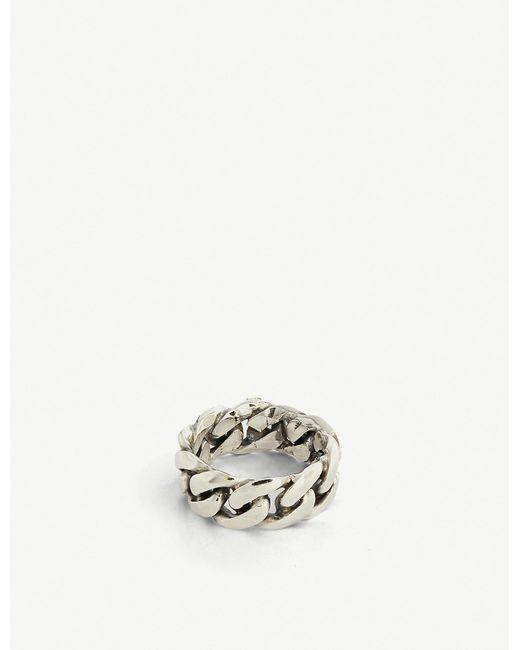 Emanuele Bicocchi Metallic Sterling Silver Ring for men