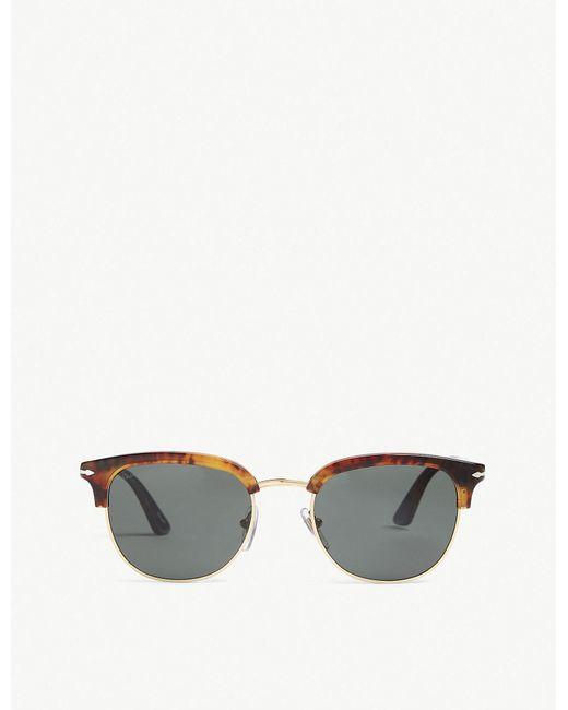 Persol - Brown Po3105s Phantos-frame Sunglasses - Lyst