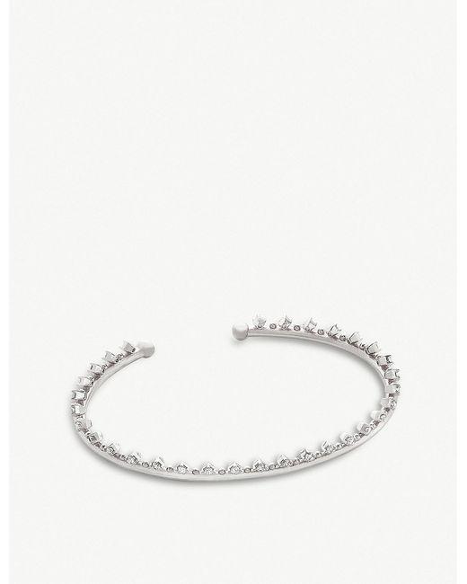 Kendra Scott - White Codi Rhodium-plated And Cubic Zirconia Bracelet - Lyst