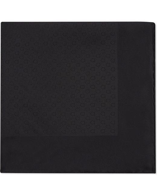 Ferragamo | Black Gancio Silk Pocket Square for Men | Lyst