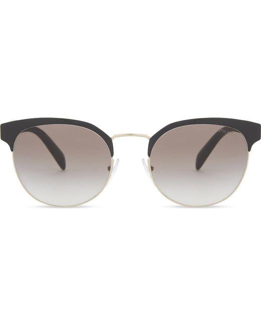 Prada - Metallic Pr61ts Phantos Round-frame Sunglasses - Lyst