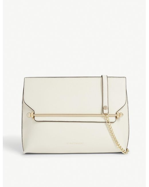 Strathberry Natural East/west Leather Crossbody Clutch