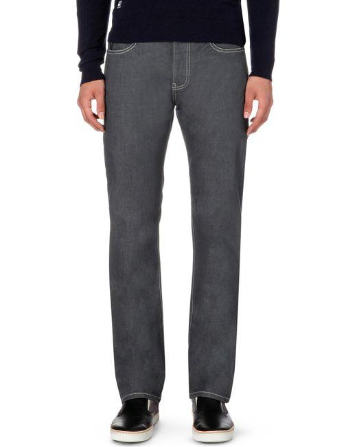 Armani Jeans | Black J21 Regular-fit Straight Jeans L32 for Men | Lyst