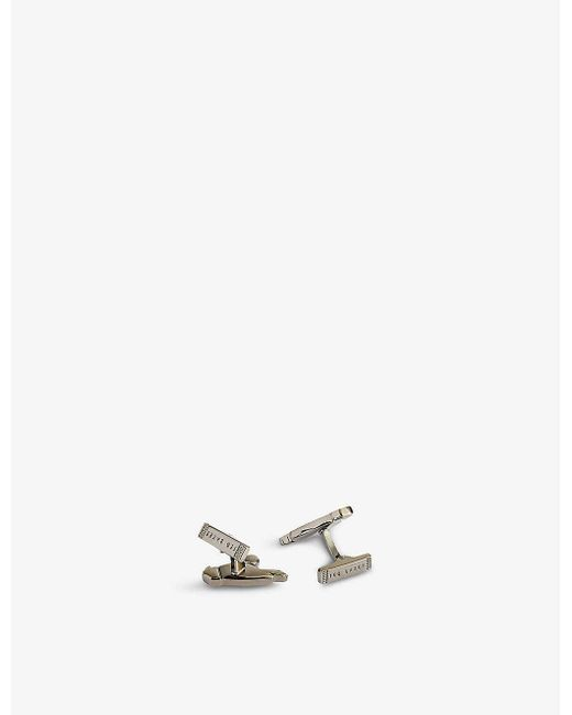 Ted Baker Metallic Pebbles Parrot Silver-tone Cufflink Set for men