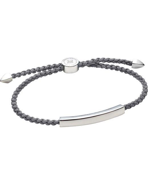 Monica Vinader | Black Linear Sterling Silver Friendship Bracelet | Lyst