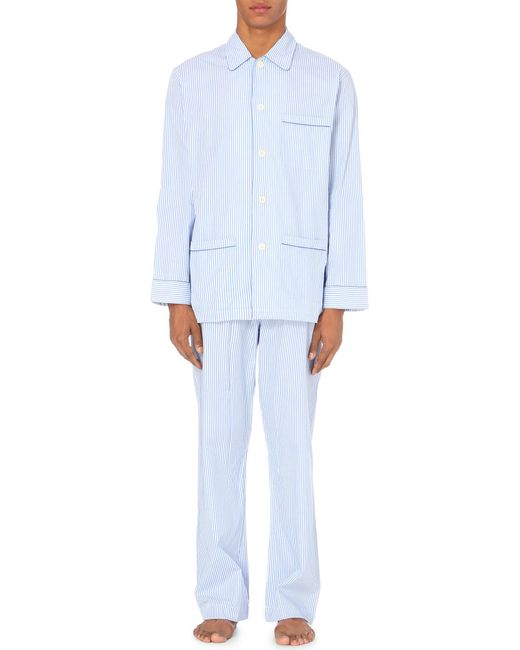 Derek Rose - Blue Bengal Stripe Pyjama Set for Men - Lyst