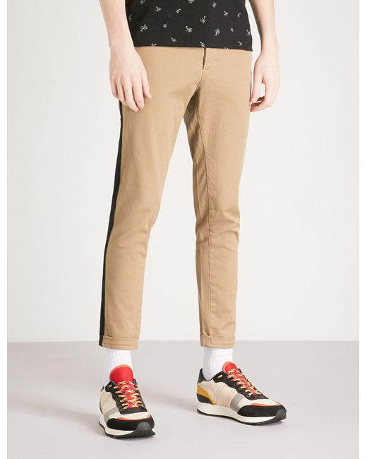 The Kooples - Natural Slim-fit Stretch-cotton Chinos for Men - Lyst