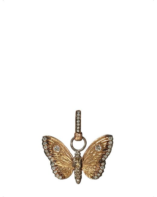 Annoushka - 18ct Yellow Gold And Diamond Butterfly Amulet - Lyst