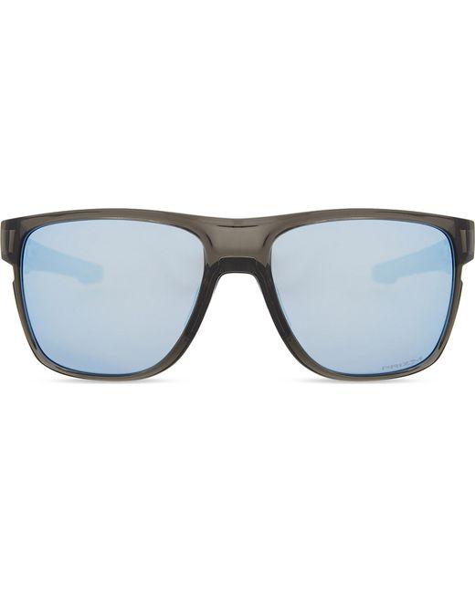 Oakley - Gray Crossrange Xl Prizmtm Deep Water Polarised Square-frame Sunglasses - Lyst