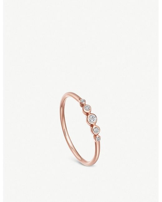 Astley Clarke - Metallic Icon Nova Mini 14ct Rose-gold And Diamond Ring - Lyst