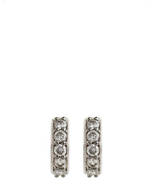 Annoushka - Metallic Dusty Diamonds 18ct White-gold And Diamond Hoop Earrings - Lyst