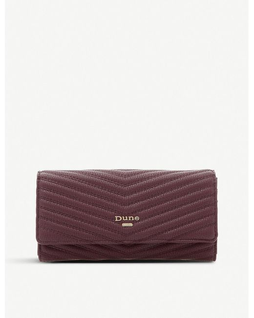 Dune Purple Karo Quilted Faux-leather Clutch
