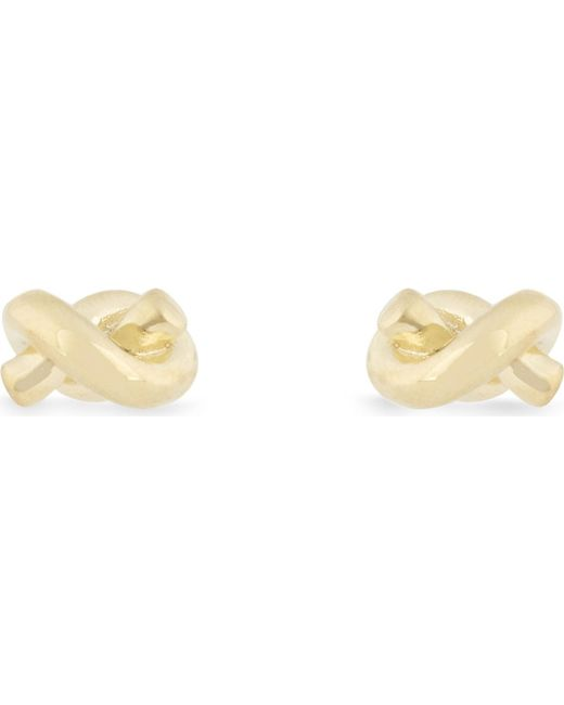 Kate Spade - Black Sailor's Knot Gold-plated Earrings - Lyst
