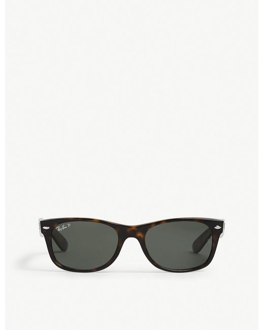 Ray-Ban - Black Ladies Havana Brown Classic Rb2132 New Wayfarer Polarised Sunglasses - Lyst