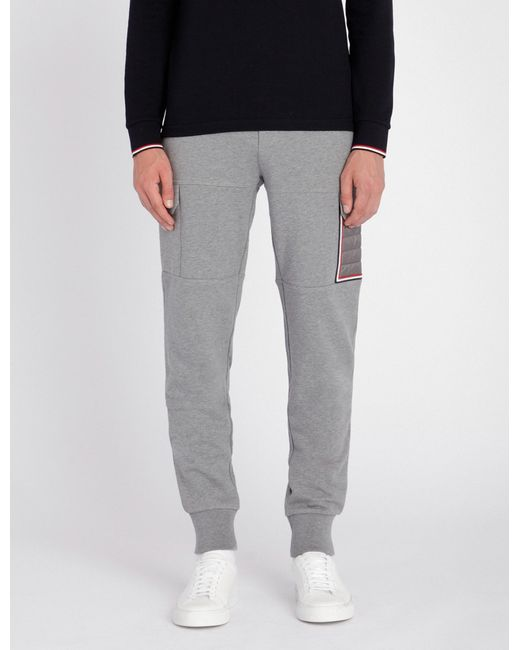 34e78cdbe Moncler Tapered-leg Jersey jogging Bottoms in Gray for Men - Lyst