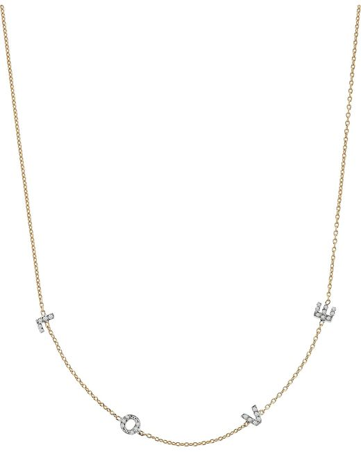 The Alkemistry - Metallic Kismet By Milka Love 14ct Rose-gold And Diamond Necklace - Lyst