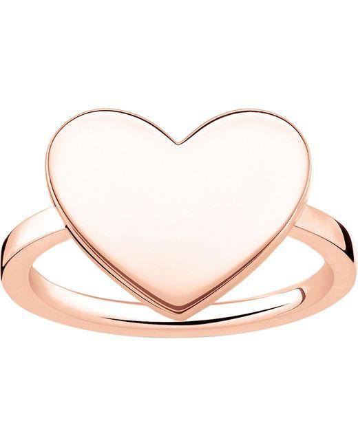 Thomas Sabo - Metallic Love Bridge Engraveable Rose Gold-plated Heart Ring - Lyst
