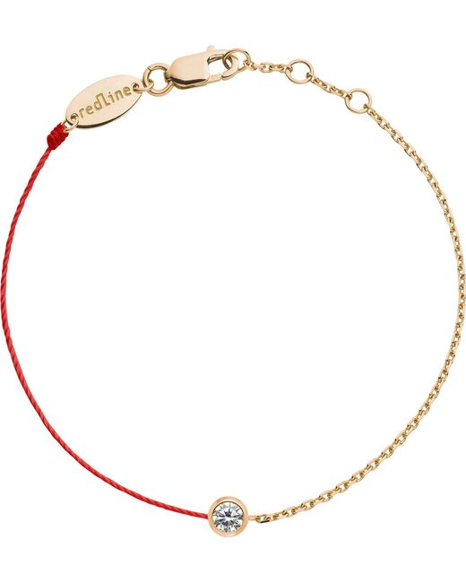 The Alkemistry | Metallic Red Thread And 18ct Rose Gold And Diamond Bracelet | Lyst