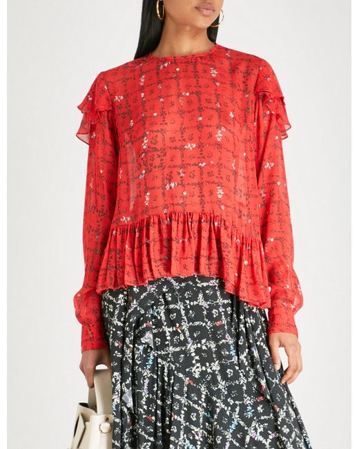 Cheap Sale Footlocker Free Shipping Cost Bryoni botanic-print top Preen New Sale Online DMYxFZ