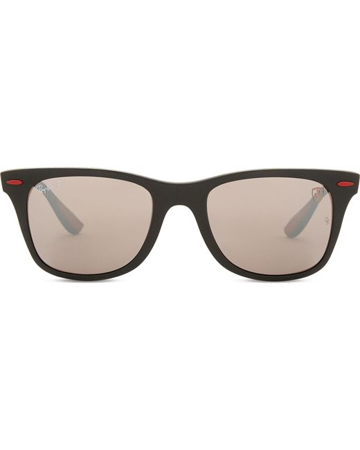 0e482ea0f1b Ray-Ban Rb4195 Square-frame Sunglasses in Black - Lyst