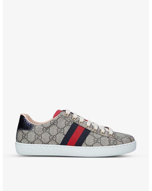 Gucci Canvas Ace Gg Supreme Sneakers