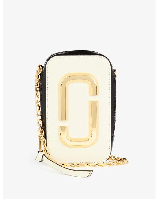 Marc Jacobs White The Hot Shot Leather Cross-body Bag
