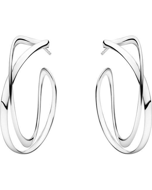 Georg Jensen   Metallic Infinity Sterling Silver Earrings   Lyst