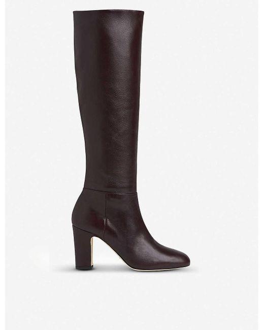 L.K.Bennett Brown Kristen Knee-high Leather Boots
