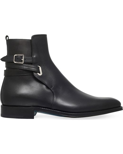 Sutor mantellassi Orthos Buckled Leather Boots in Black